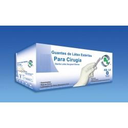 GUANTES DE LATEX DESECHABLE PARA CIRUJANO TALLAS 6.5, 7, 7.5, 8, 8.5.